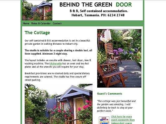 Hobart Accommodation Behind the Green Door