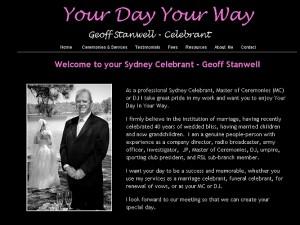 Sydney Celebrant - Geoff Stanwell