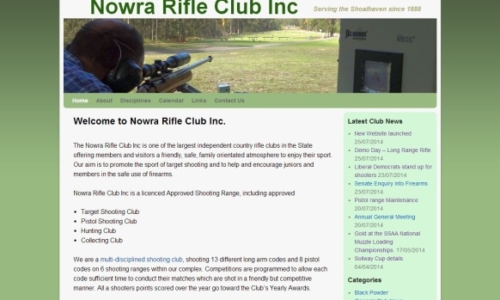 Nowra Rifle Club website design