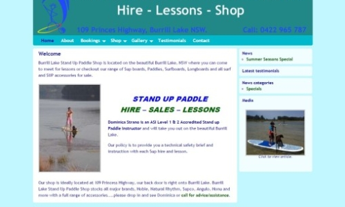 Hire SUP at Burrill Lake