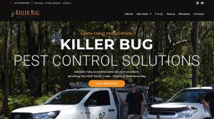 Killer Bug Pest Solutions - website design