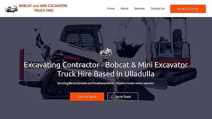 Stephen Gruber Bobcat and Mini Excavator based in Ulladulla