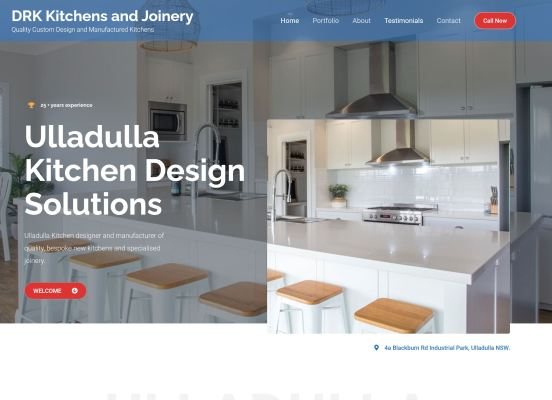 DRK Kitchens website design by Dennis Gullan